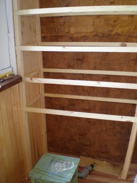 Как сделать шкаф своими руками на балкон